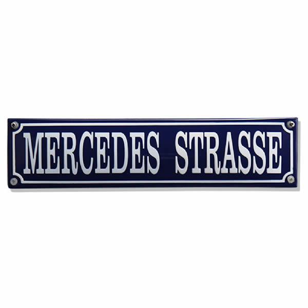 Straatnaambord emaille Mercedes (33x8 cm)