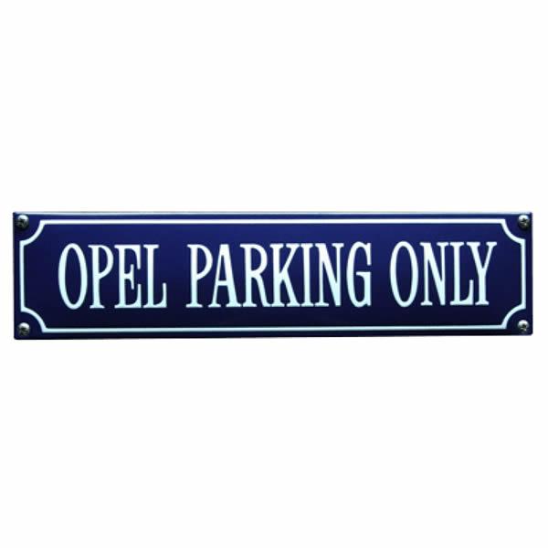 Straatnaambord emaille Opel (33x8 cm)