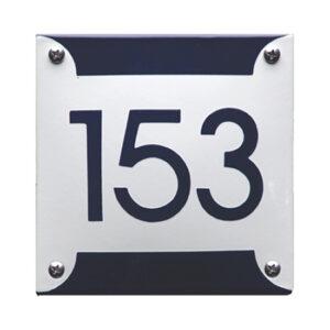Emaille huisnummer Retro (12.5x12.5 cm)