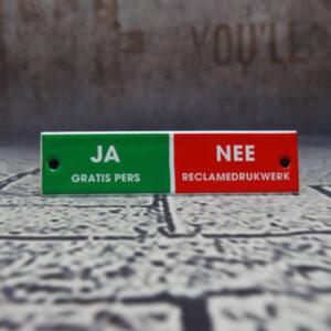 Emaille brievenbordje Ja Nee Belgie