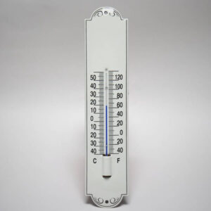 Emaille thermometer creme klein