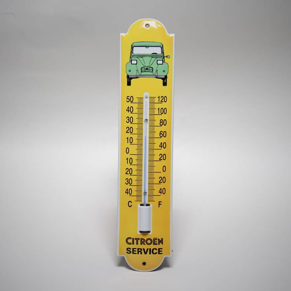 Emaille thermometer klein 2CV