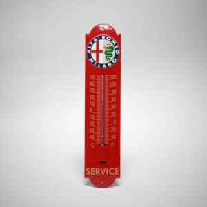Emaille thermometer klein Alfa Romeo