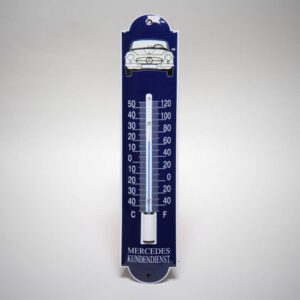 Emaille thermometer klein Mercedes