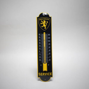 Emaille thermometer klein Peugeot
