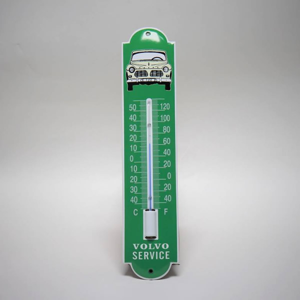 Emaille thermometer klein Volvo
