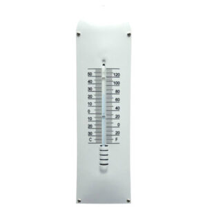 Emaille thermometer wit groot