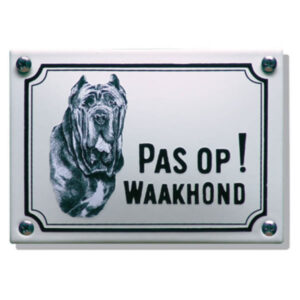 Emaille waakhond bord Mastif (14x10 cm)