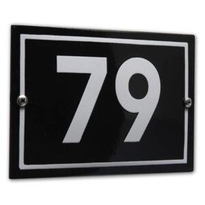 Emaille huisnummer Design Phil (16x11 cm)