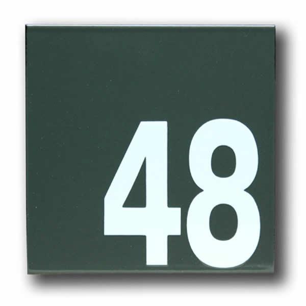 Emaille huisnummer Modern (16x16 cm)
