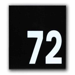 Emaille huisnummer Modern (16x18 cm)