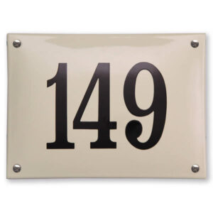 Emaille huisnummer gebold (22x16 cm)