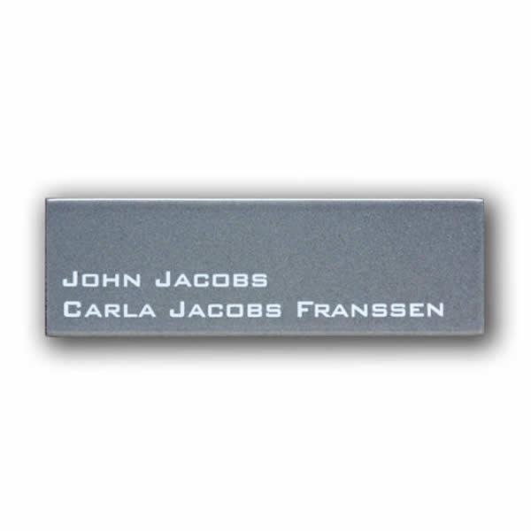 Emaille naambord Modern (16x5 cm)