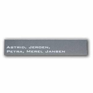 Emaille naambord Modern (26x5 cm)